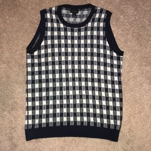 J. Crew Collection Cashmere Gingham Shell, Medium